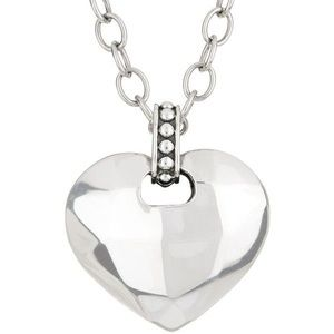 RARE Lagos Silver Rocks Angled Heart Necklace